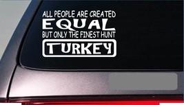 "Turkey hunting equal Sticker *G756* 8"" vinyl turkey call box call camo blind - $2.39"