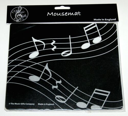 The Music Gifts Company MOM05 Wavy Music Mouse Pad Colors Black White
