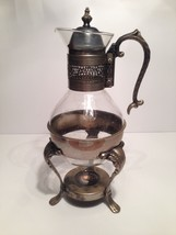 VINTAGE SILVERPLATE COFFEE TEA WARMER DECANTER WITH REMOVABLE TOP - $58.04