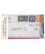 1945 Haiti Double Censored Air Mail Cover Port au Prince to US Sc RA4 36... - $9.95 CAD