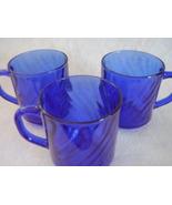 Arcoroc Sapphire or Cobalt Blue Swirled Glass C... - $30.00