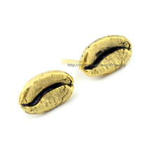 Alloy Gold / Silver Plated Coffee Bean Stud Earrings Bean Earrings Every... - $9.83