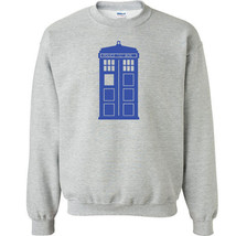 204 Police Call Box Crew Sweatshirt doctor tv show who time new ALL SIZE... - $20.00