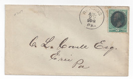 19th Century Cover Reading PA Fancy Cancel Solid Obliterator Bullseye placement - $7.56