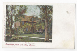 Greetings Concord MA The Old Manse Chisolm Bros UND Vintage Postcard c 1905 - $7.56