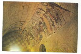Turkey Goreme Fresco Mural Art Yilanli Kilise Cave Church Vtg Postcard 4X6 - $7.56