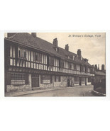 UK England York St William's College Vtg J Valentine Postcard - $7.56