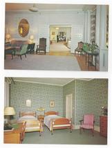 VT Brandon Inn Vermont Interiors Bedroom Lobby Lounge 2 Vintage Postcards - $6.69