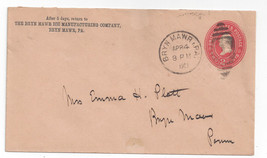 1903 Commercial Cover U364 Bryn Mawr Pa Duplex Ice Manufacturing - $4.99