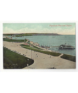 UK Devon Plymouth Pier and Sound Vtg J Valentine ca 1910 Postcard - $6.49