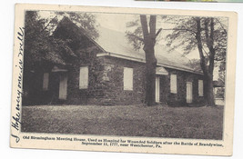 PA Birmingham Meeting House Battle of Brandywine Hospital Vtg 1947 Postcard - $6.49