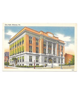 Altoona PA City Hall Vintage Tichnor Linen Postcard  - $3.99