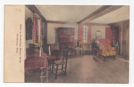 Stockbridge Mission House Parlor Interior Vntg Handcolored Albertype Pos... - $8.72