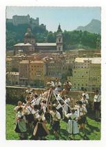 Austria Salzburg Bandtanz Ribbon Folk Dance Alpinia Festival Vtg Postcar... - $8.72