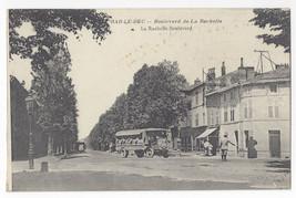 WWI France Bar Le Duc Bouldevard Rochelle Bus Truck c 1918 Postcard - $8.72