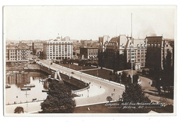 RP Canada Victoria BC Empress Hotel from Parliament Postcard Size Real P... - $8.72