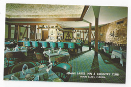 FL Miami Lakes Inn Country Club Devils Elbow Room Dining Vtg Florida Pos... - $8.72