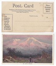 Prudential Insurance Advertising Postcard Mt Hood Oregon Vintage Art - $8.72