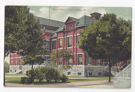 PA West Chester Public School Vintage A Henry Newvochrome Postcard - $9.95