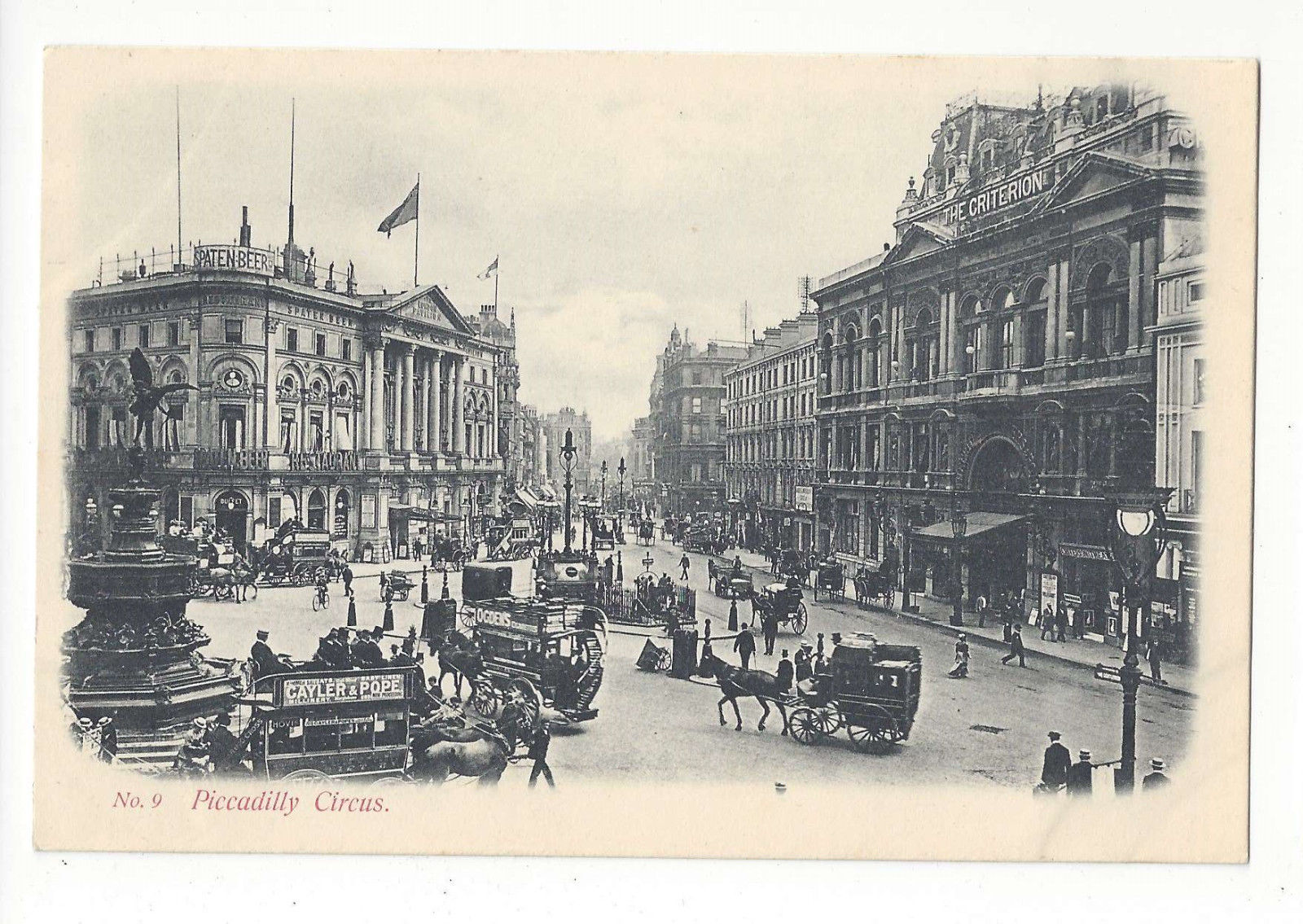 Primary image for UK England London Piccadilly Circus Vtg J Beagles No. 9 Postcard c 1910