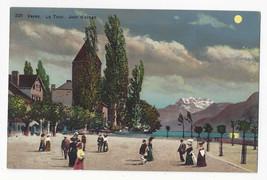 Switzerland Vevey La Tour Jour d'orage Vtg Postcard c 1910 - $8.72