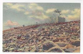 Pikes Peak CO Cog Train at Summit Curteich 1941 Vintage Linen Postcard - $5.52
