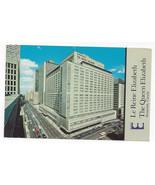 Canada Montreal Queen Elizabeth Hilton Hotel Vtg 1971 Postcard - $4.84