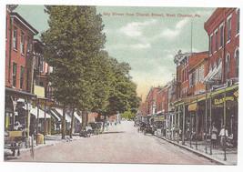 West Chester PA Gay Street Biehn Bicentennial Repro Postcard 1999 4X6 - $5.52