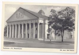 Germany Karlsruhe Staatstheater Opera House Vtg Rolf Kellner Postcard - $5.52