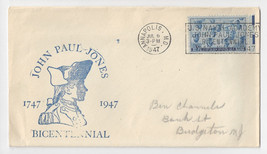 Navy John Paul Jones Bicentennial 1947 Annapolis MD Cachet Cover - $5.52