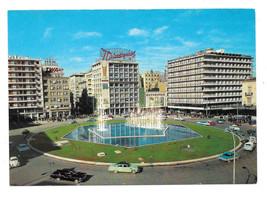 Greece Athens Omonia Concord Square Cars Vtg Postcard 4X6 - $5.52