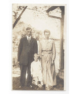 RPPC Family Father Mother Son ca 1910 - 1915 Fashion Real Photo Postcard - $5.52