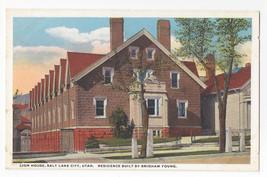 Salt Lake City Utah Lion House Brigham Young Vintage Curteich Postcard c... - $5.81