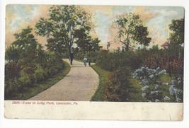 PA Lancaster Scene in Long Park Vtg Postcard - $3.99