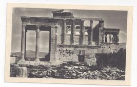 Greece Athens Erechtheion Acropolis Ancient Temple Vintage Postcard - $5.52