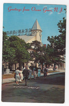 Greetings From Ocean Grove NJ Auditorium Sunday Services Vintage Postcard - $5.52