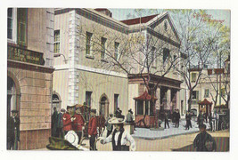 UK Gibraltar The Exchange Vtg VB Cumbo Postcard c 1910 - $9.65