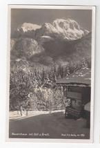 Germany Bavaria Berchtesgaden Bauernhaus mit Goll u Brett Vtg Real Photo Postcar - $9.65