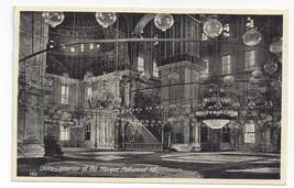 Egypt Cairo Mosque Mohamed Ali Interior Lehnert & Landrock Photo Postcard - $9.65