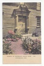 MA Stockbridge Mission House Doorway Vtg Hand Colored Albertype Postcard - $9.65