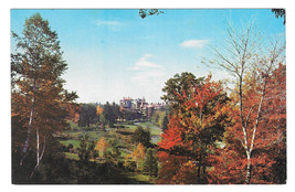 NY Lake Mohonk Mountain House Gardens Autumn Foliage Vtg Postcard Resort - $5.52