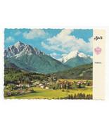 Austria Igls Kurort Spa Tirol Tyrol Alps Birds eye view Vtg Postcard 4X6 - $5.52