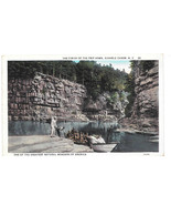 Ausable Chasm New York Finish of the Trip Boat Tour Vintage Postcard 1933 - $5.52