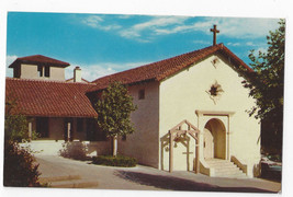 CA Mission San Rafael Arcangel Vintage Hubert Lowman Postcard - $5.52