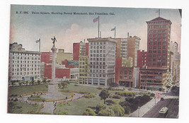 San Francisco CA Union Square Dewey Monument Vintage PNC Postcard - $5.52