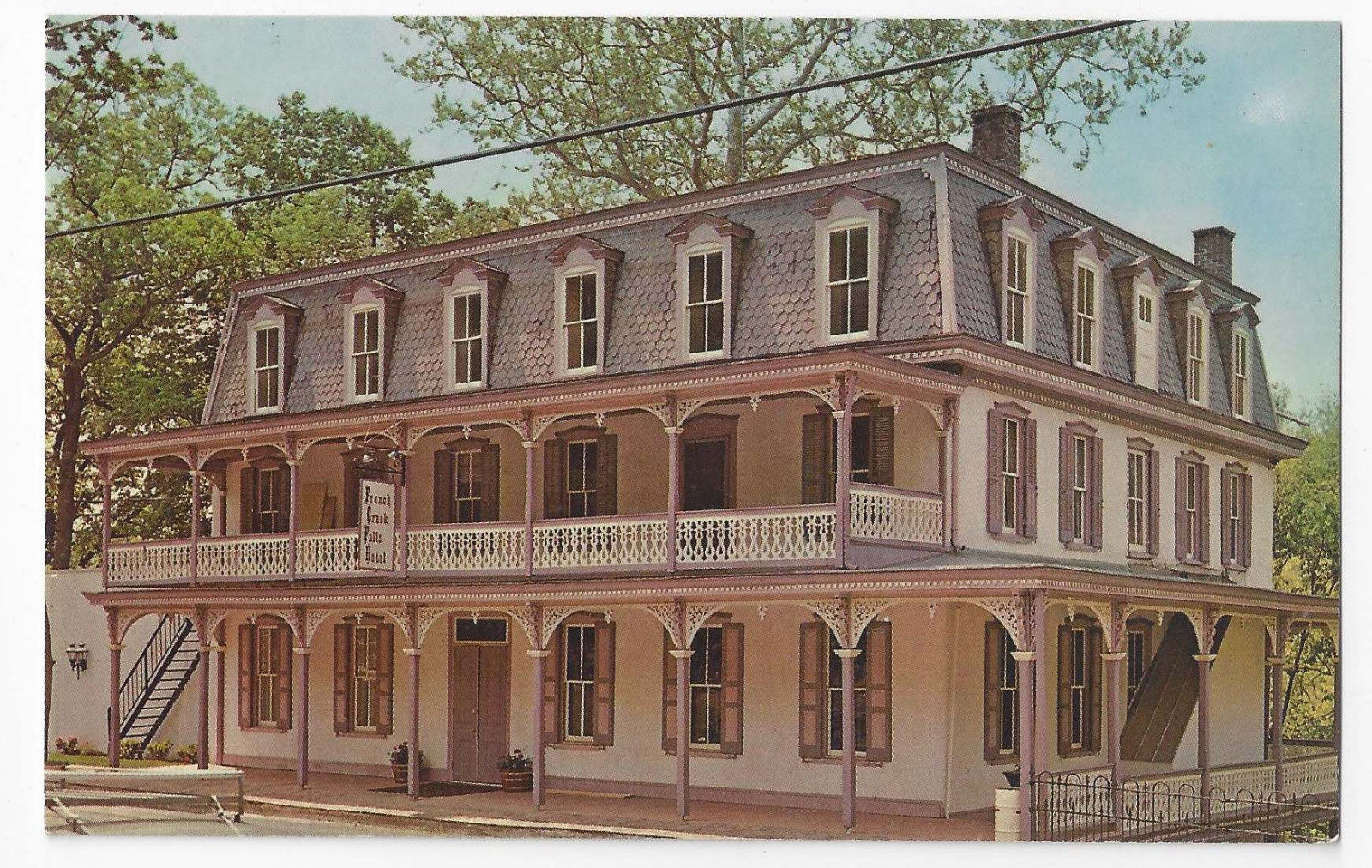 St Peters Village PA Main Hotel and Restaurant Vintage Postcard