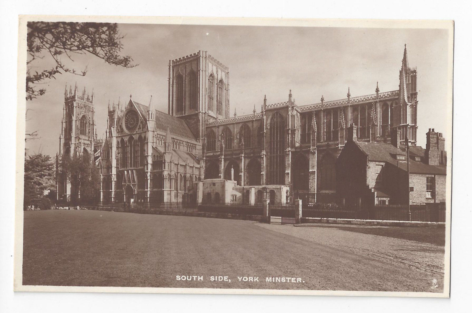 UK York Minster Cathedral South Side RPPC Raphael Tuck Real Photo Postcard