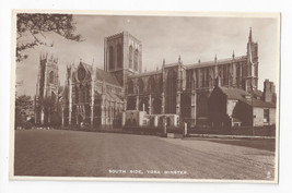 UK York Minster Cathedral South Side RPPC Raphael Tuck Real Photo Postcard - $4.99