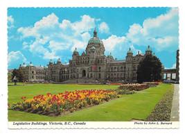 Canada Victoria BC Legislative Buildings Vtg Postcard 4X6 John Barnard P... - $5.52