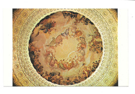 Washington DC Capitol Dome Fresco Mural Painting Brumidi Vtg Postcard - $5.52
